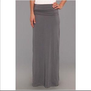 Splendid fold over maxi skirt or strapless dress